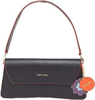 Satya Paul Women's Sling Bag (Black)