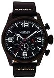 Gigandet Mens Quartz Chronograph Orologio da polso analogico con cinturino in pelle nera G20-003