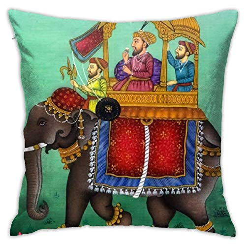wteqofy Throw Pillow Covers Modern Decorative Throw Pillow Case Mughal School of Art Pillow Covers Cushion Case for Room Bedroom Room Sofa Chair Car,18 X 18 Inch