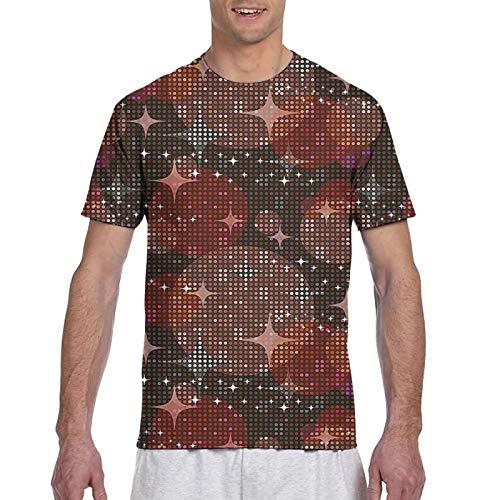 Haiyaner Discoteca Luces Patrón Fiesta Discoteca Tema Puntos Estrellas Formas Mosaico Hombres 3d Impresión Gráfica Premium T-Shirt