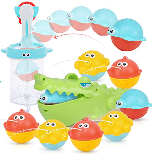 PEAINBOX Bath Toys for Toddlers with 2 in 1...