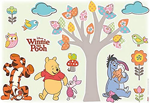 Komar Disney Deco-Sticker WINNIE POOH NATURE LOVERS   50 x 70 cm- Wandtattoo, Wandsticker, Wandaufkleber, Wandbild, Winnie Puh, Kinderzimmer   14014h