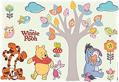Komar - Disney - Deco-Sticker WINNIE POOH NATURE LOVERS - 50 x 70 cm- Wandtattoo, Wandsticker, Wandaufkleber, Wandbild, Winnie Puh - 14014h, Bunt