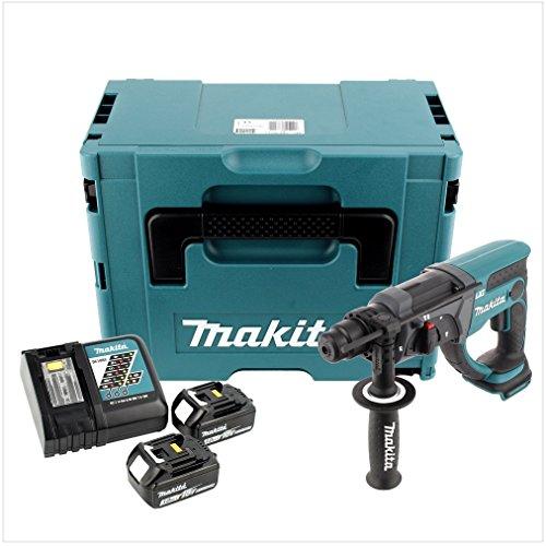Makita DHR 202RFJ 18V batteria–Martello Demolitore Sds Plus in MAKPAC con 2X batteria 3,0AH e caricatore