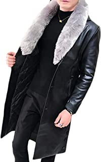 Best mens leather trench coat with fur collar Reviews