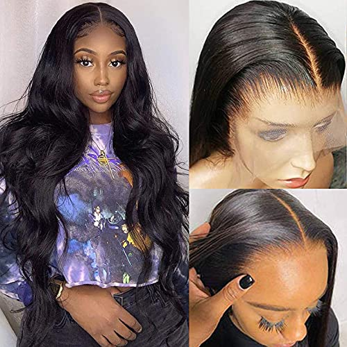 HD Lace Front Wigs Human Hair for Black Women 150% Density 9A Brazilian 13×4 Body Wave Human Hair Lace Front Wigs Pre Plucked with Baby Hair Natural Hairline Wigs(20inch)