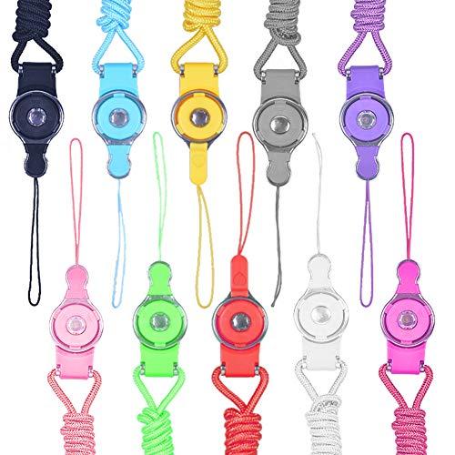 Miotlsy Correa del acollador 10 Colores Desmontable Célula Teléfono Cuello Correa para los teléfonos móviles Casos del teléfono cámaras 40cm
