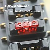 Gebildet 80 PCS Assortis Voiture Fusible à Lame Standard, Fusible Mecanique, pour Véhicule Auto Moto Voiture Bateau Camion, 3A 5A 7.5A 10A 15A 20A 25A 30A 35A 40A