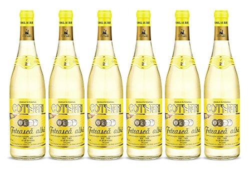 Cotnari | Feteasca alba – Rumänischer Weißwein lieblich | Weinpaket (6 x 0.75 L) D.O.C. – C.M.D. + 1 Kugelschreiber Amigo Spirits gratis