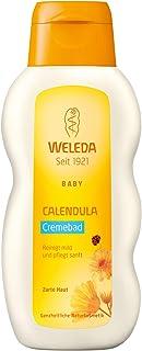 WELEDA Baby Calendula Cremebad, pflegende Naturkosmetik Reinigung für trockene und empfindliche Babyhaut, Pflegebad ohne Tensiden für Babys und Kleinkinder 1 x 200 ml