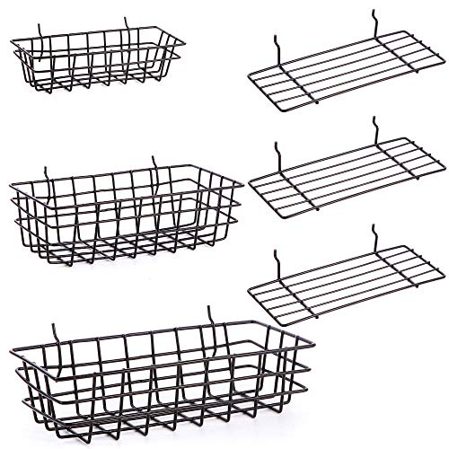 Pegboard Baskets and Peg Board Racks, Pegboard Hooks, for Organizing Various Tools, 6 Piece