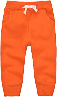 Gyratedream Unisex Kids Elastic Waist Cotton Casual Trousers Loose Breathable Beachwear Children Girls Boys Summer Solid Print Baby Pants Bottoms 2-8 Years