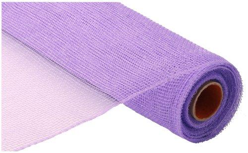 10 Inch x 30 Feet Deco Poly Mesh Ribbon - Lavender Purple Non Metallic : RE130213