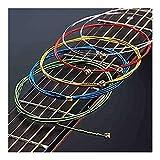 6Pcs / Set Cuerdas de guitarra acústica Rainbow Colorful Cuerdas de guitarra EA para Guitarra acústica popular Guitarra clásica Multicolor (Color: Guitar Strings)