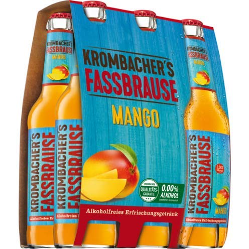 6 Flaschen Krombacher Fassbrause Mango a 330ml inclusiv 0.48€ MEHRWEG Pfand