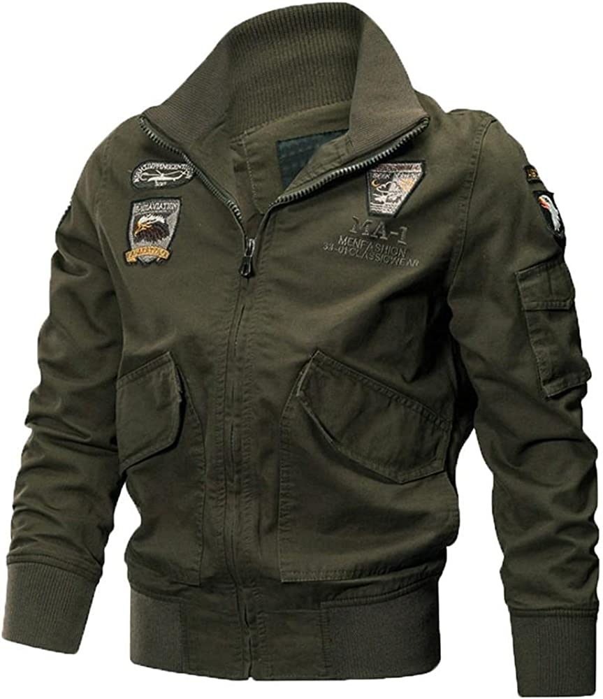 Men's Winter Coats Bomber gift Max 50% OFF Jackets Mot Casual Collar Zip-Up Stand