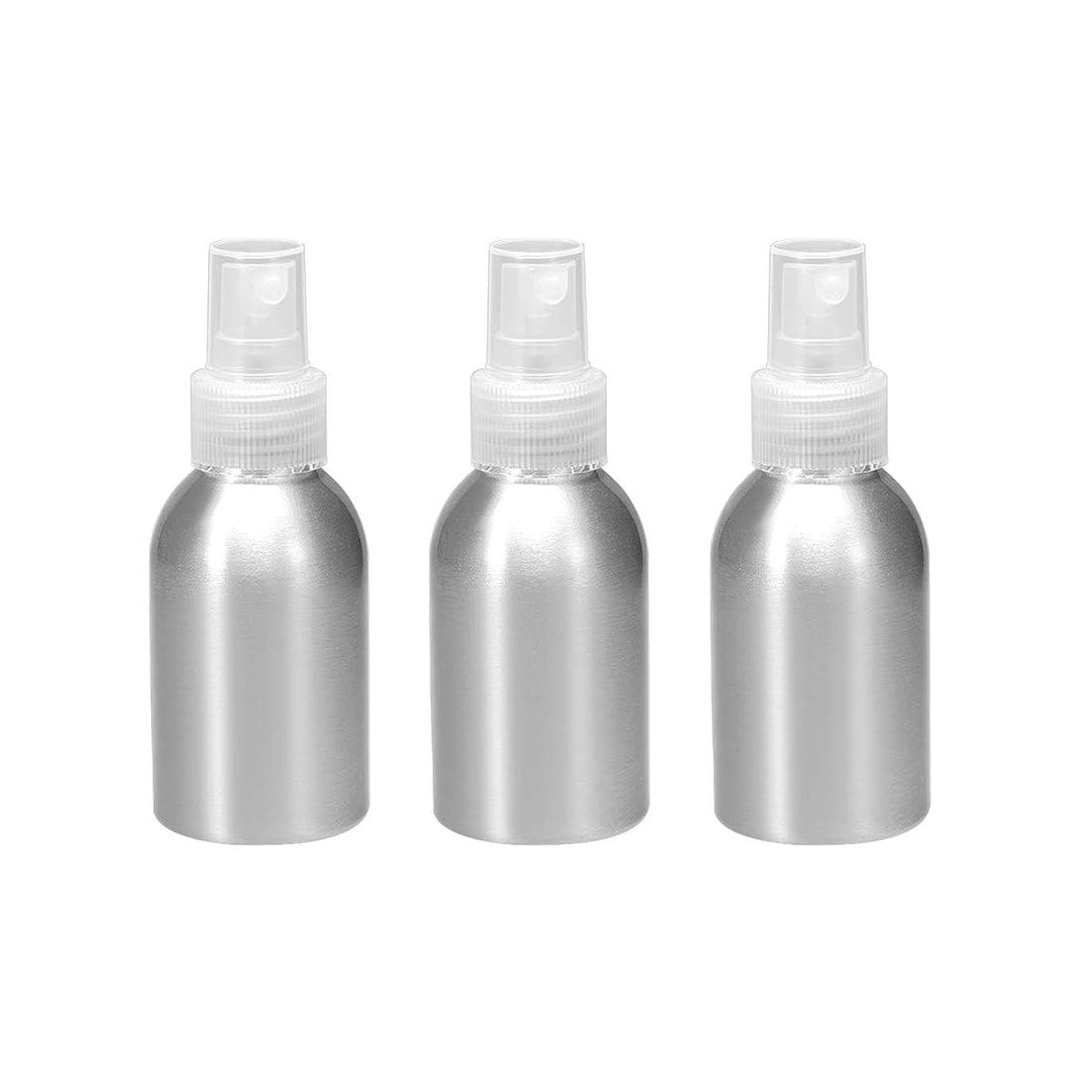 世界ウェイトレス相関するuxcell uxcell アルミスプレーボトル クリアファインミストスプレー付き 空の詰め替え式コンテナ トラベルボトル 1.7oz/50ml 3個入り
