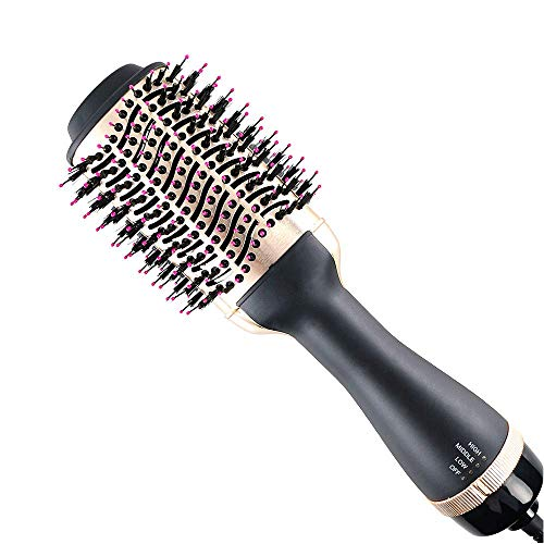 Haartrocknerbürste, Haartrockner, Multifunktions - 4-in-1 Heißluft Bürste, Föhn, Styler, Lockenwickler & Haarglätter Heißluftkamm für Alle Haartypen
