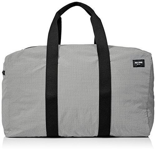 Jack Spade Men's Packable Graph Check Duffle Bag, Grey