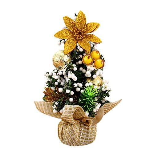 Kolylong® Weihnachtsbaum künstlich Desktop Mini Christbaum Tannenbaum Weihnachts Deko Home Wohnzimmer Decoration Christmas gifts (20cm(7.87''), Gold)