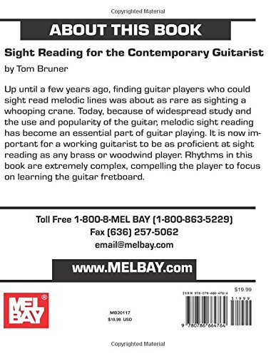 Mel Bay Sight Reading for the Contemporary Guitarist