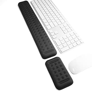 Keyboard and Mouse Wrist Rest Pad Set- Gaming Memory Foam Ergonomic Hand Palm Rest Support for Computer, PC, Laptop, Mac(1...