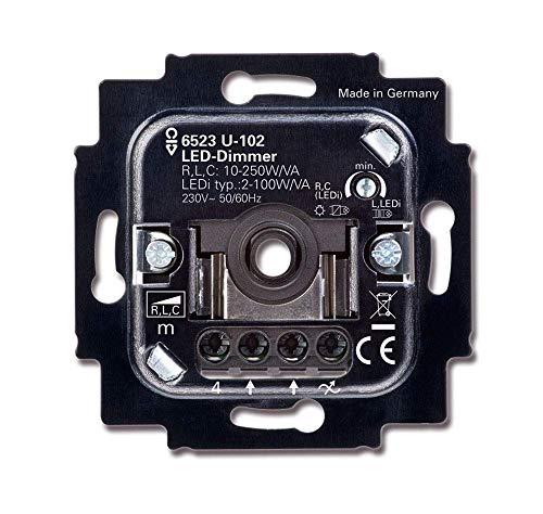 BUSCH-JÄGER, LED-Drehdimmer (LED Dimmer Einsatz) 6523 U-102 (6523U 102) 6523U102 Unterputz