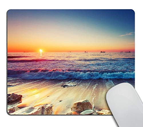 Smooffly Gaming Mouse Pad Custom Original Nature Series Mouse Pad - Sunrise Over Sea