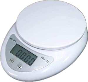 Kitchen Scale Kitchen Scales, Digital Kitchen Weighing Scales, Ultra Slim Design Electronic Food Cooking Scales with Backlight LCD Screen, 5kg/1g, Tare Function