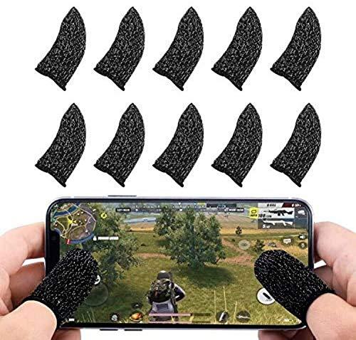 Watermelon 10 Stück Handyspiel Fingerhülle Touchscreen Fingerhülle Atmungsaktiv Anti-Schweißempfindliche Schieß- und Zielschlüssel, schweißfeste Handschuhe für Smartphone-Spiele