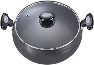 Prestige Hard Anodised Cookware Lifetime Induction Base Sauce Pan, 240mm, Black