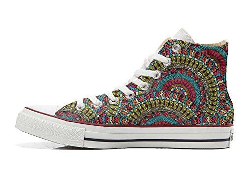 Zapatillas All American USA – Base Type Star Unisex – Impresión Vintage 1200 dpi – Estilo Italiano – Zapatos Personalizados (Producto Artesanal) Mexican Texture, Color Multicolor, Talla 46 EU Weit