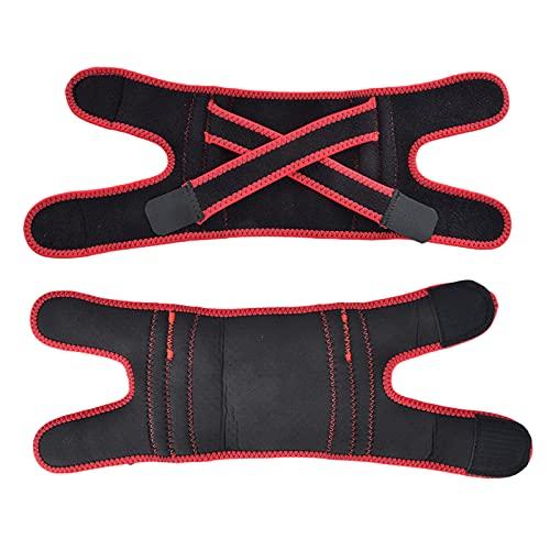 Sport Kneekap, Comfortabele Patella Knieband Sport Kniebeschermers met geïmporteerd Oor, Ademende rubber, Laika 40x13cm (rood)