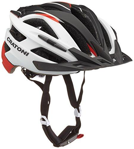 Cratoni Fahrradhelm Agravic, White/Red/Black Matt, L-XL