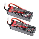 LiPo Battery 2S 5200mAh 50C 7.4V GOLDBAT RC LiPo Battery Hard Case Pack with Deans Plug for RC Evader BX Car Losi Buggy Team Associated Truck Truggy (2 Packs)