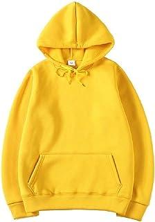 Howely Men's Athletic Solid Hoodie Pockets Pullover Top Sweatshirt