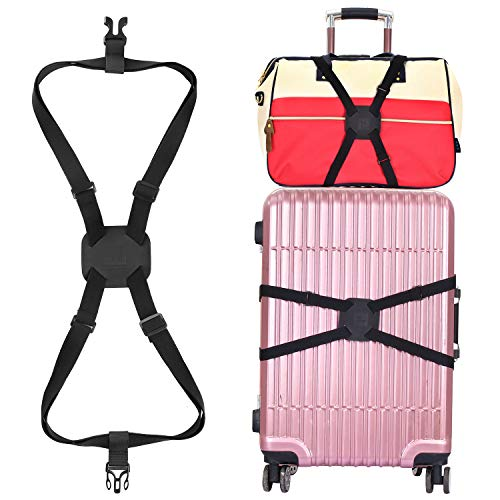Luggage Straps Bag Bungees for Add a Bag Easy to Travel Suitcase Elastic Strap Belt