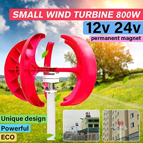 SISHUINIANHUA Max 800W AC 12V / 24V Wind Turbinen-Generator-Laterne 5 Klingen Motor Kit Vertikale Achse 3 Phase Für Privatanwender Hybrid Straßenbeleuchtung Verwenden