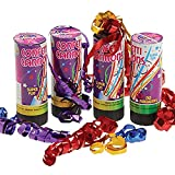ArtCreativity Confetti Cannons, Set of 4, Party Poppers for Wedding, Birthday, Graduation, Baby Shower, Safe Confetti Poppers for Kids, Fun Party Supplies, Decorations, and Favors