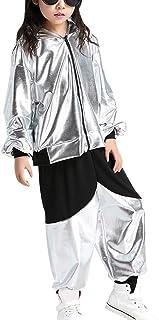 52afe6e9bb3f Tenthree Danza Abbigliamento Top Bambine Ragazze - Costumi Jazz Hip-Hop per  Bambini Abbigliamento per