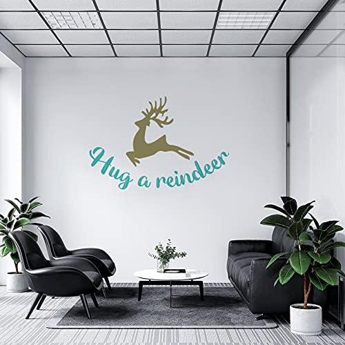 by Unbranded Pegatinas de pared Huh A Reno Jumping Deer Elk Calcomanía Vinilo Coche Pegatina   Adhesivo de pared Arte Murales Decoración Fresca 35.5 pulgadas de ancho