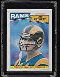 Jim Everett 1987 Topps Football Rookie Card #145 - LA Rams - Stored in a Protective Plastic Display Case!!. rookie card picture