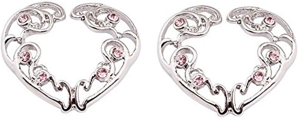Body Accentz Nipple Rings no Piercing Pair Non-Piercing Clip On Nipple Ring Tribal Floral Flower Heart Pair