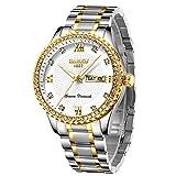 Reloj de Pulsera analógico de Cuarzo para Hombre y Mujer, Resistente al Agua, con Esfera Luminosa, Calendario