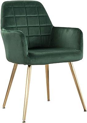 Amazon.com: Silla de comedor ALY Fabric, silla de salón ...