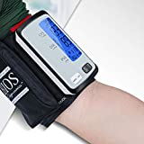 Blood Pressure Monitor- Tubeless Automatic Upper Arm Blood Pressure Machine Digital BP Cuff Kit with 8.7-16.5 inch Large Cuff 2 User 180 Set Memory - LCD Backlight Screen- Nylon Storage Bag