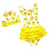 LOSORN ZPY Toddler Baby Girl Swimsuit Kid Girl One Piece Swimwear Cute Swim Dress S Yellow