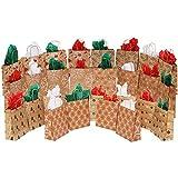 MOMONI 28 Piece Medium Premium Christmas Gift Bags- Classic Variety Kraft Gift Bags Bulk Christmas Bags- Good for Xmas Party Favors, Goody Gift Bags, Holiday Treat Box and Presents