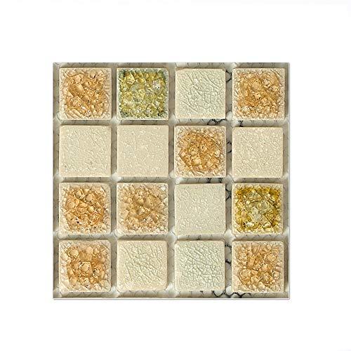 EasyLife - 40 adhesivos para azulejos de pared para decoración del hogar, 10 x 10 cm, impermeables, autoadhesivos, adhesivos para azulejos para cocina y baño(Set 3)