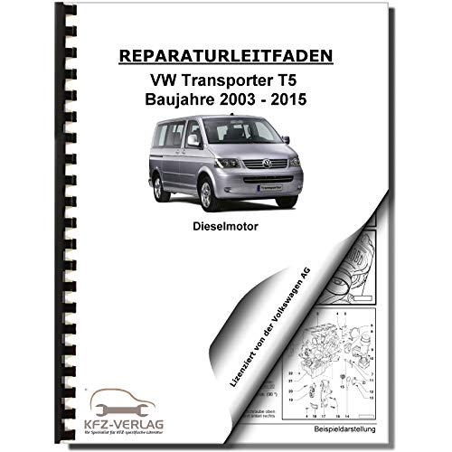 VW Transporter T5 03-15 5-Zyl 2,5l Dieselmotor TDI 130-174 PS Reparaturanleitung